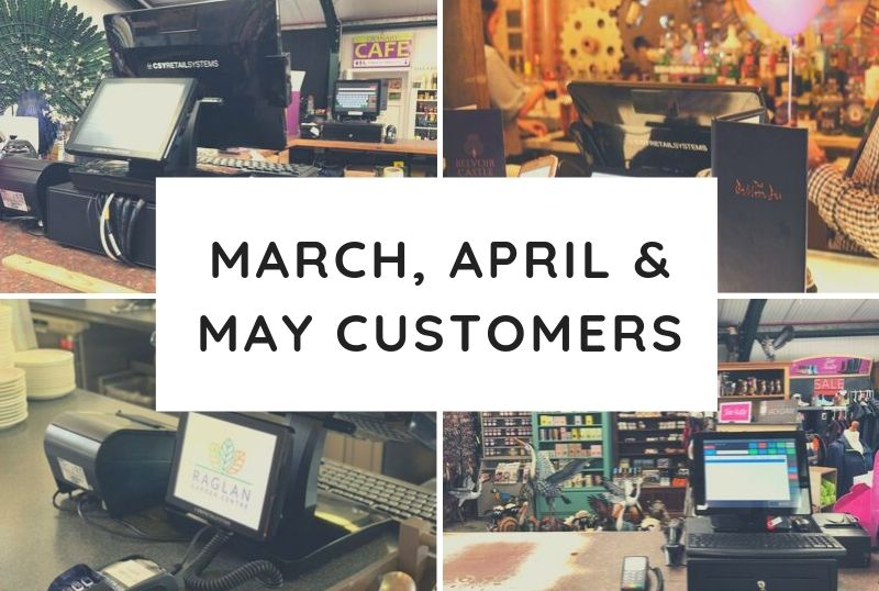 March, April & May Customers