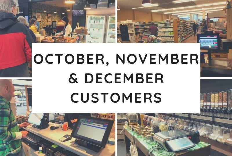 October, November & December Customers